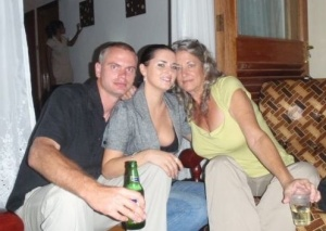 The three of us ...