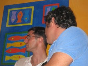 Lio and Carlos ... that's France listening to Spain