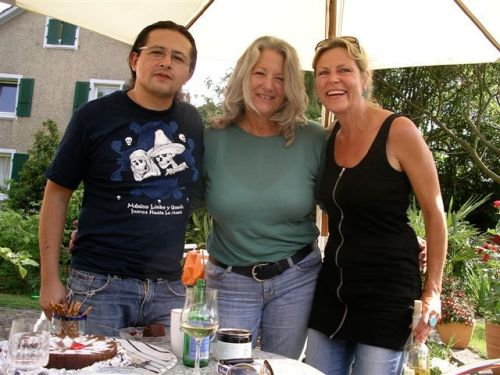 Ernesto, me and Carola in Basel in July