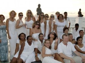 "Deb's farewell ""Sunset White Party at Lounge 8"" ... she's a classy lassy ..."