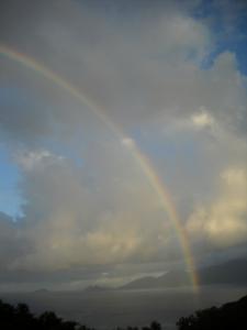 Anse Soleil rainbow