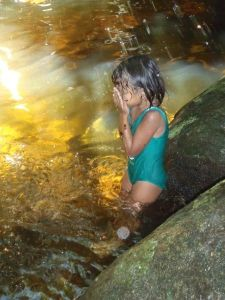 Cj at the waterfall